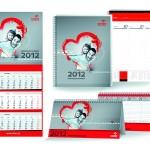 """Kalendarz biurkowy, książkowy, trójdzielny, wieloplanszowy - Orlen """"Odpowiedzialna marka"""""""
