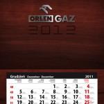 "77b. Kalendarz zdzierak ""12 cech Orlen Gaz"""